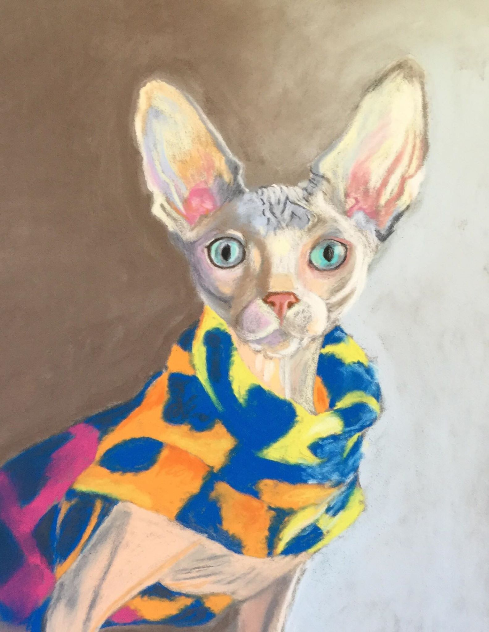 "The Friday Art Cat: ""Sphynx in a Multicoloured Jumper"""