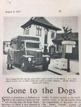 1957 Battersea van with women drivers 09.08.57