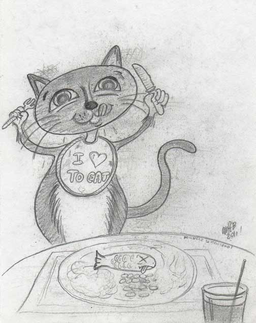 Squeaky Loves To Eat by Michele Witchipoo