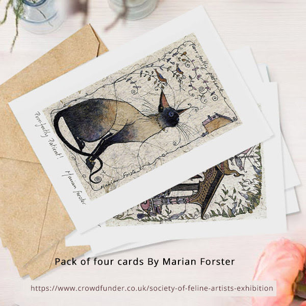 Pack of four cards by Marian Forster