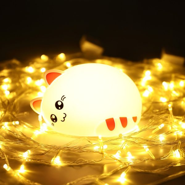 sleeping cat night light