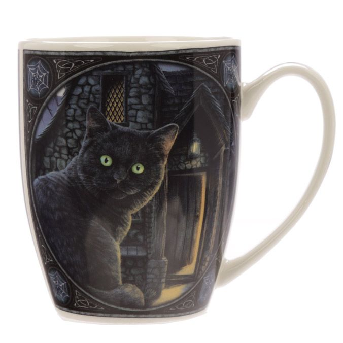 "4/"" Witching Hour Cat New Bone China Porcelain Coffee Drink Mug"