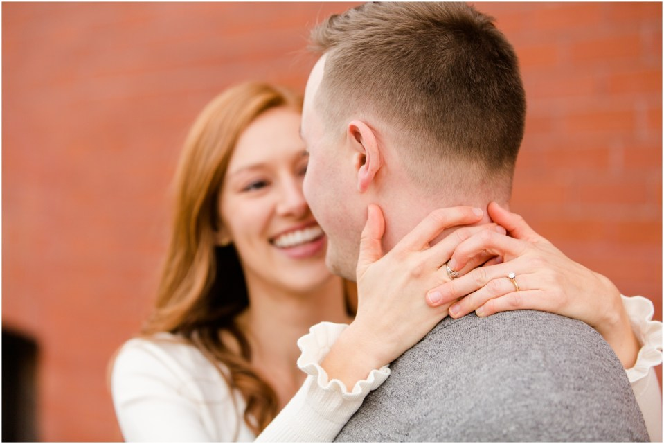 Fall engagement session at the University of St. Thomas in Saint Paul, Minnesota | Photo by Katzie and Ben Photography
