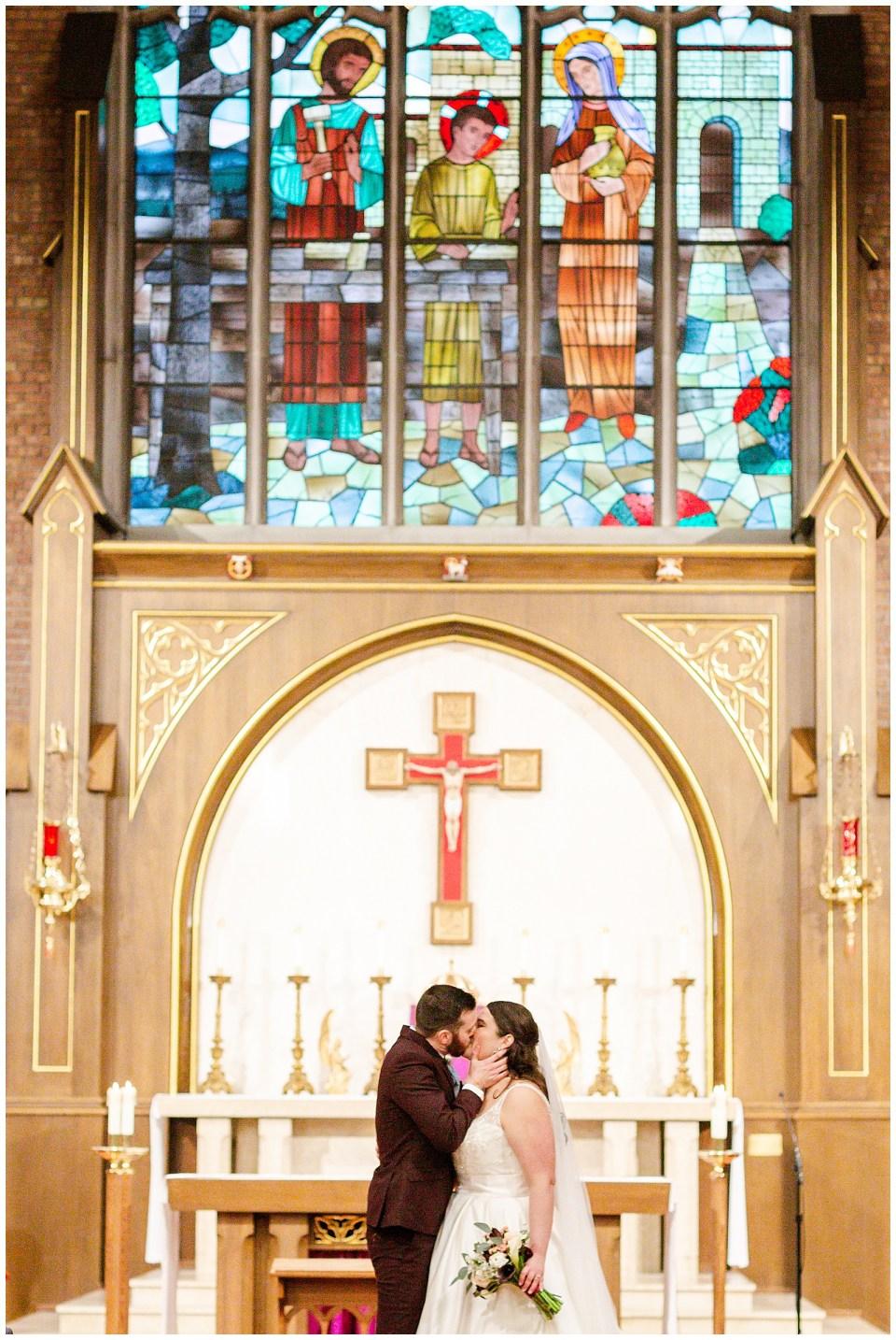 Catholic wedding at Holy Family Catholic Church in St. Louis Park, MN during the coronavirus COVID-19 season