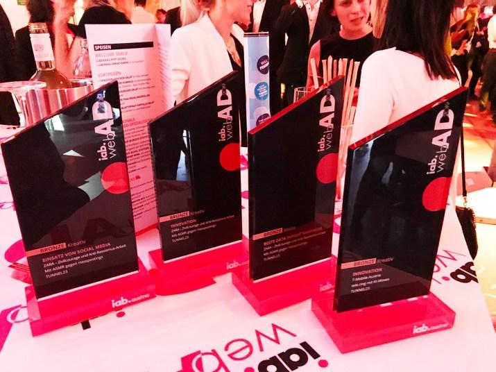 3 IAB WebAd Awards für ZARA und TUNNEL23