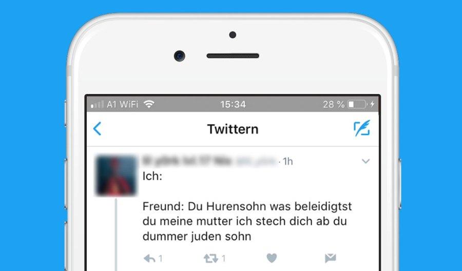 Hass-Posting auf Twitter wird automatisiert mit KI beantwortet