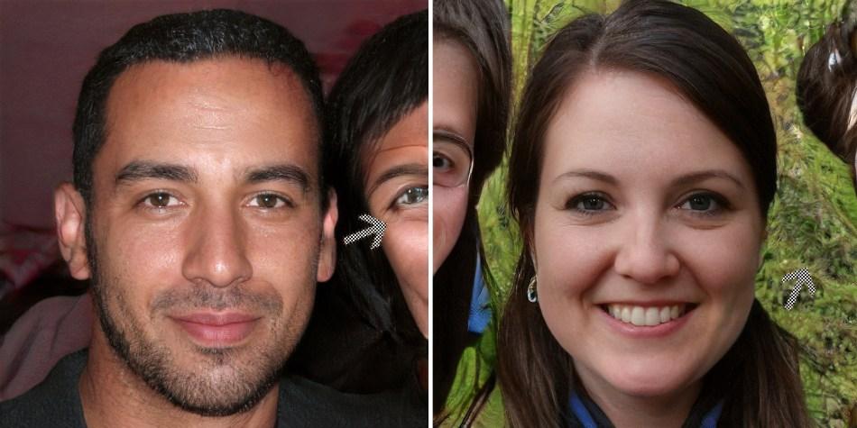 GAN manipuliertes Foto Hintergrund