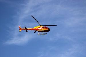 Chopper in flight