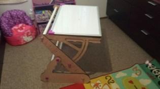 CNC child easel desk