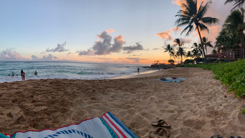 JP Bolwahnn | Kauai Real Estate - Waiohai beach in Poipu looking west towards sunset.