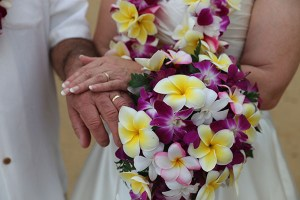 Plumeria and Orchid Flower Bouquet
