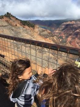 kids at waimea canyon