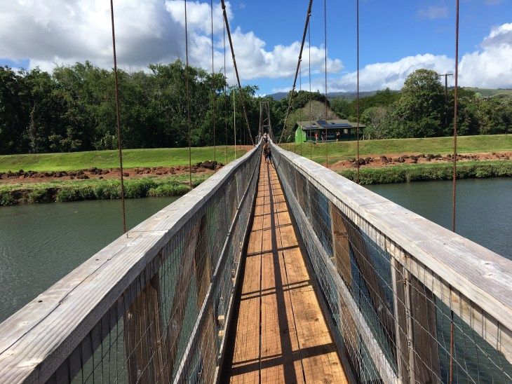 Hanapepe Swinging Bridge Kauai With Keiki