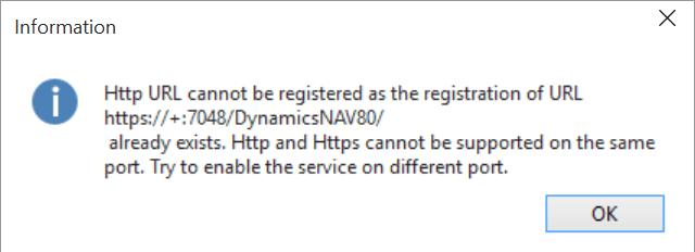 Https URL cannot be registered when enabling NAV Web