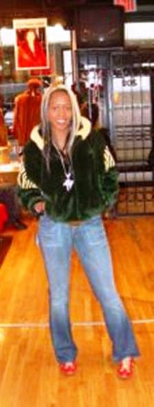 Green Mink Jacket Hooded