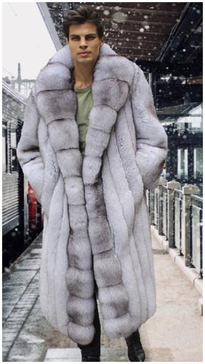 Men's fox fur jackets