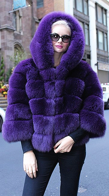 Purple Fox Jacket Hood