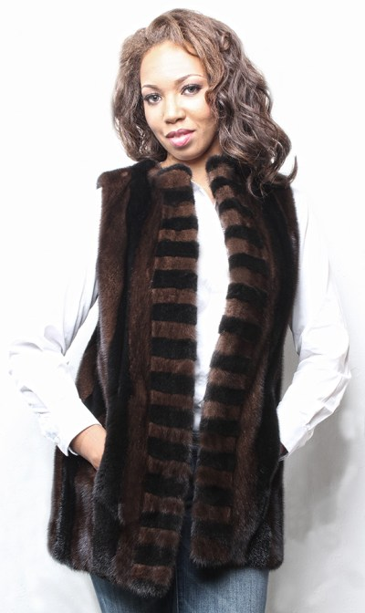 Mahogany and Ranch Mink Fur Vest