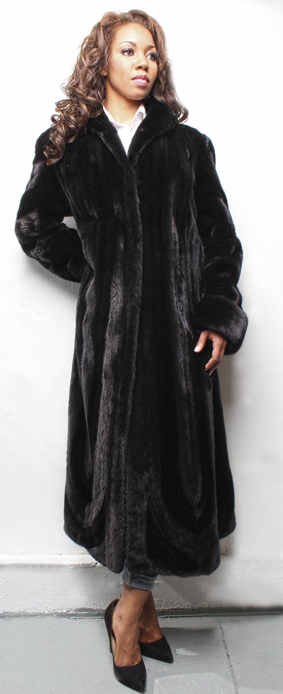 Full Length Ranch Hair Up Hair Down Mink Fur Coat