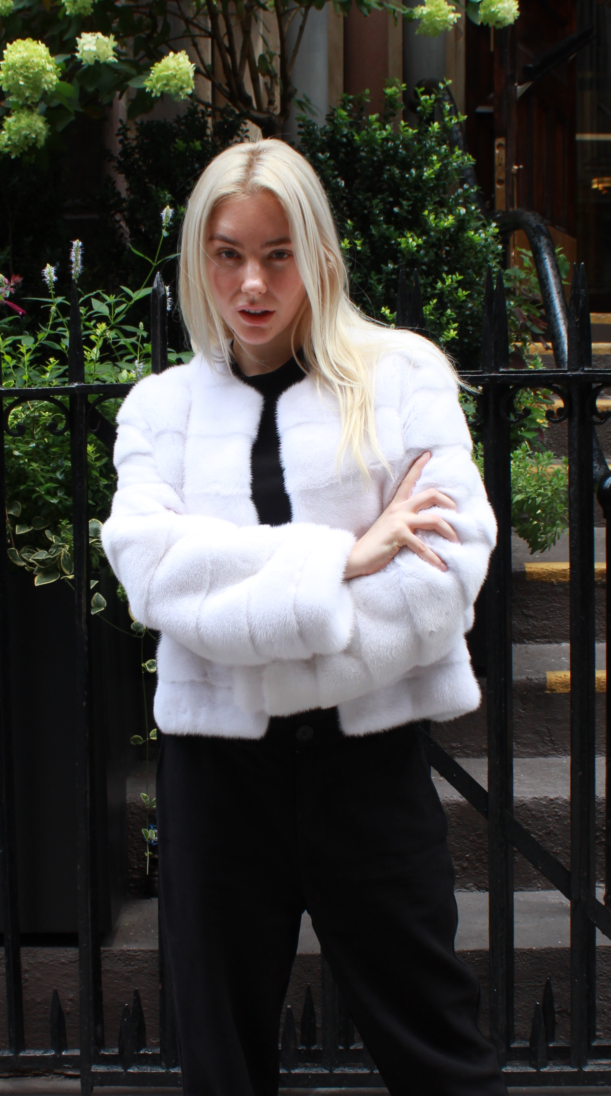 White Mink Jacket Horizontal