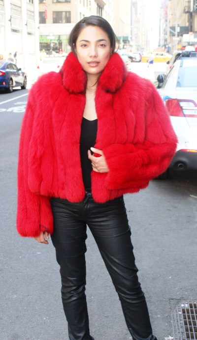 Dyed Red Fox Jacket