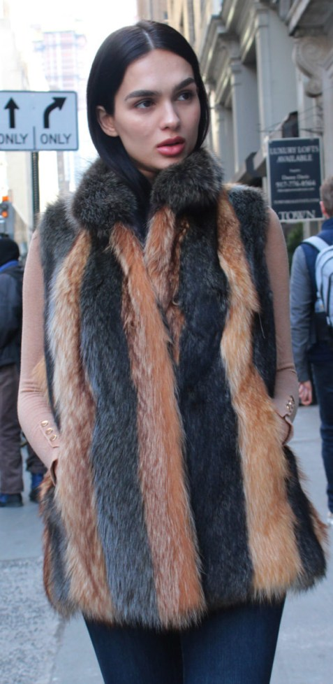 Casual Raccoon Fur Vest
