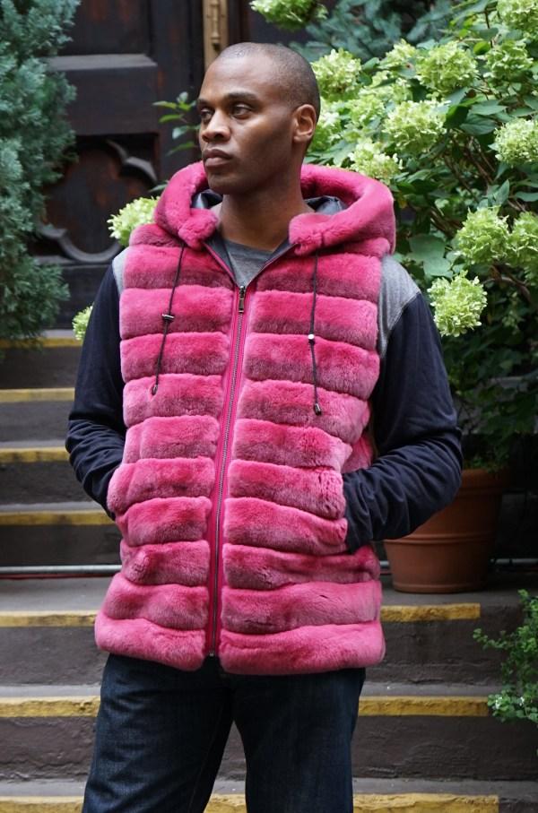 Dark Pink Men's Rex Vest