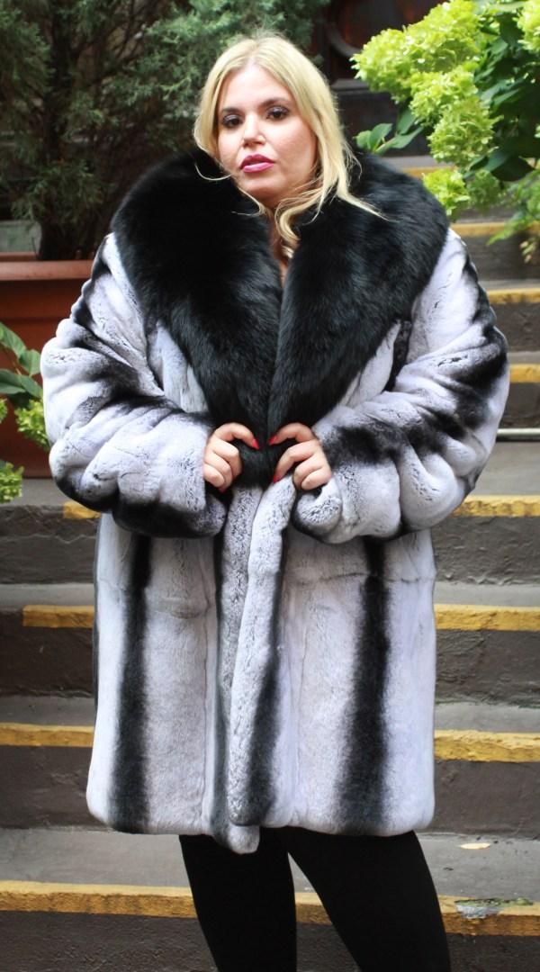 Gray Black Rex Rabbit Stroller Fox Collar