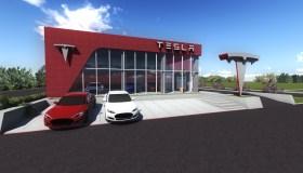 Elektromobilių įkrovos stotelės vizualizacija