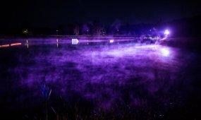 Birštono Wake parkas naktį