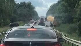 """""""Mercedez"""" avarija Prienai-Kaunas kelyje"""