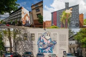 Gatvės meno koliažas