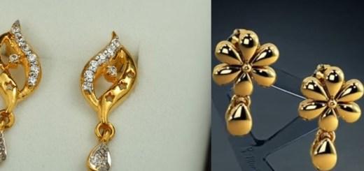 Gold earrings for regular use