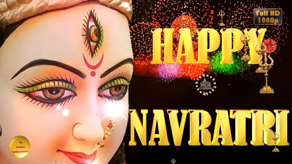 Greetings Image for Hindu festival- Navratri