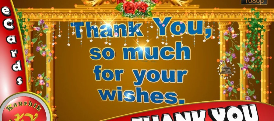 Greetings to express your gratitude