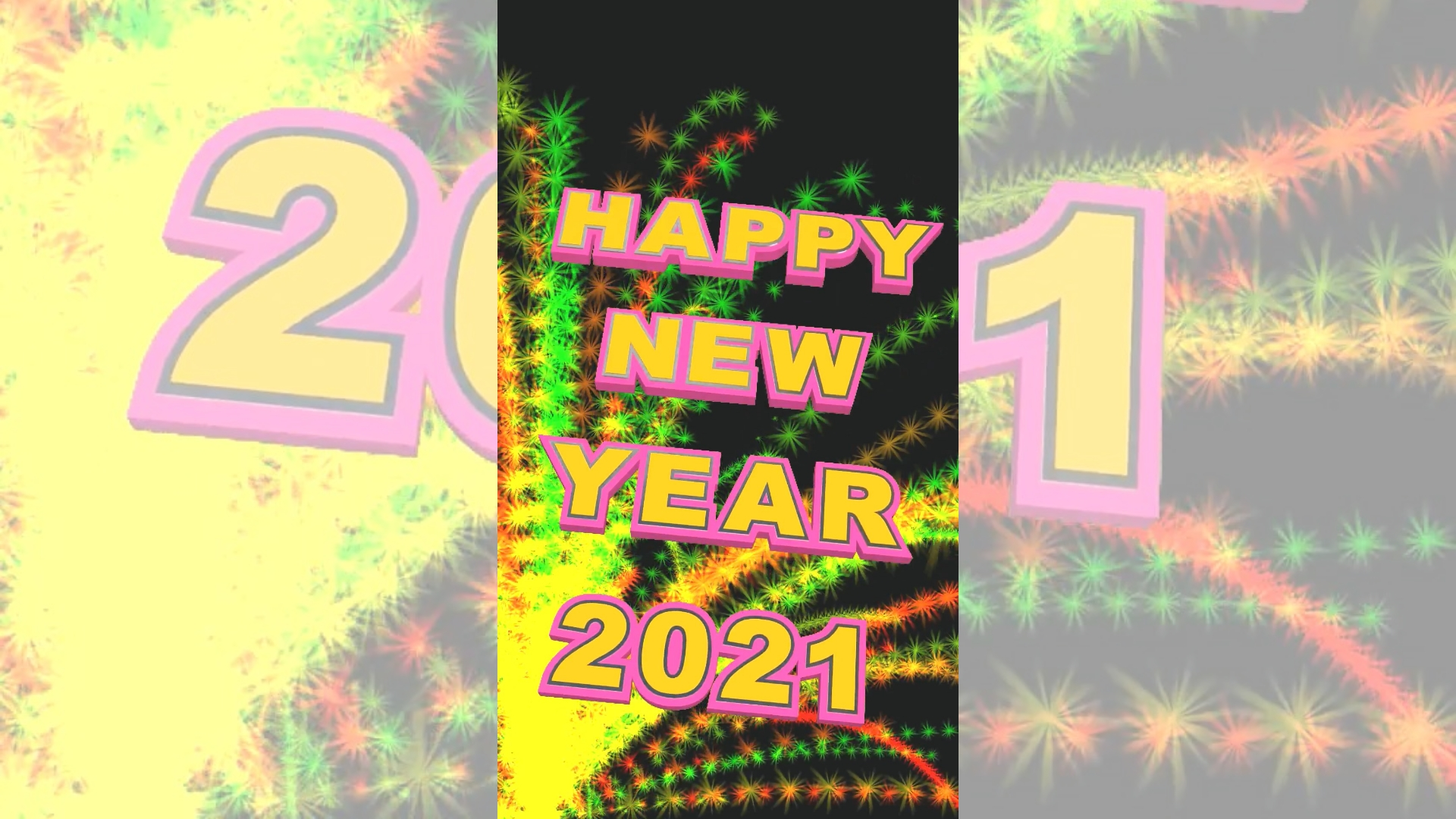 Countdown video for New Year 2021.