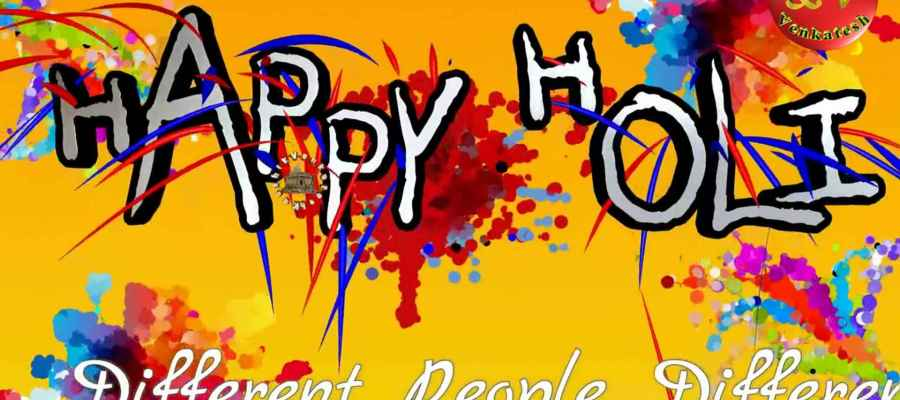 HD Greetings Images for Holi festival.