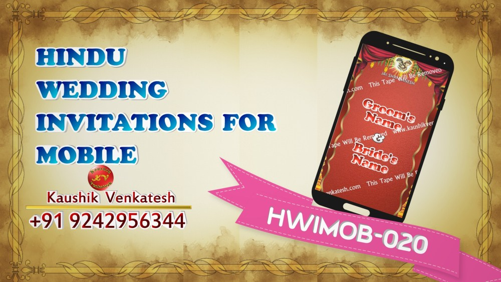 Video of Hindu Marriage Invitation for Mobile