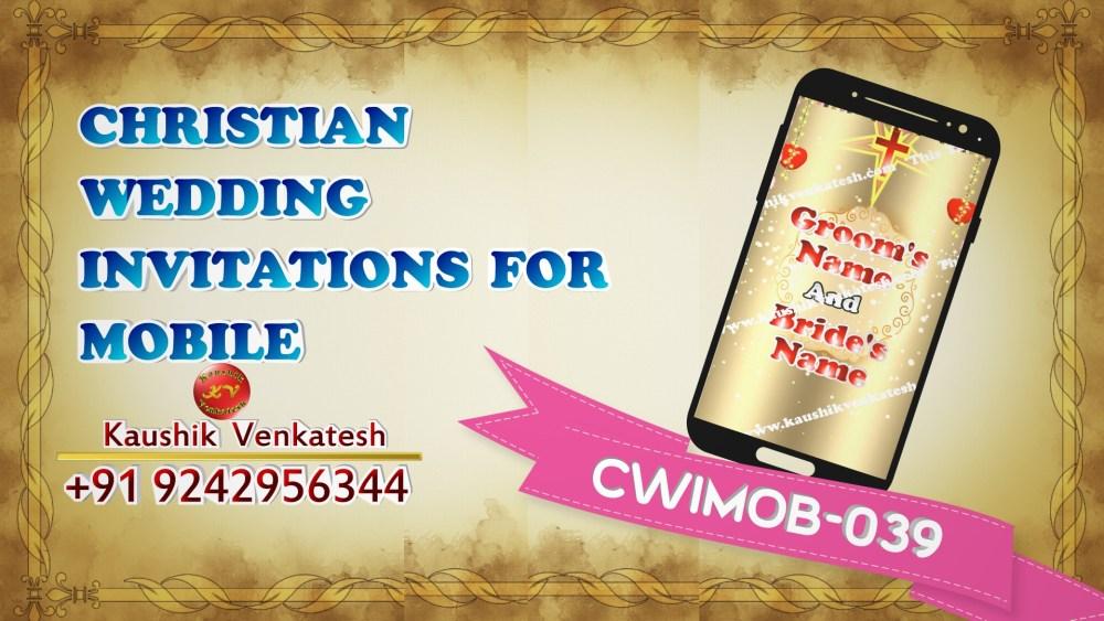 Video of Christian Wedding Invitation for Mobile