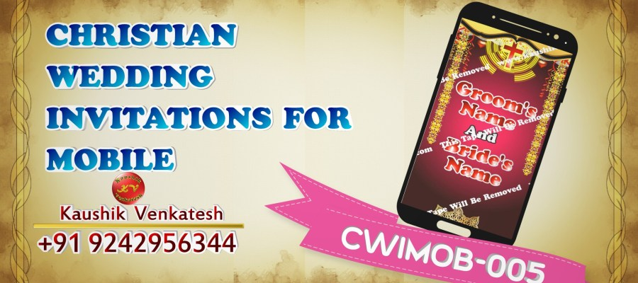 Video of Christian Marriage Invitation for Mobile