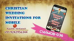 Digital Video of Christian Wedding Invitation for Mobile