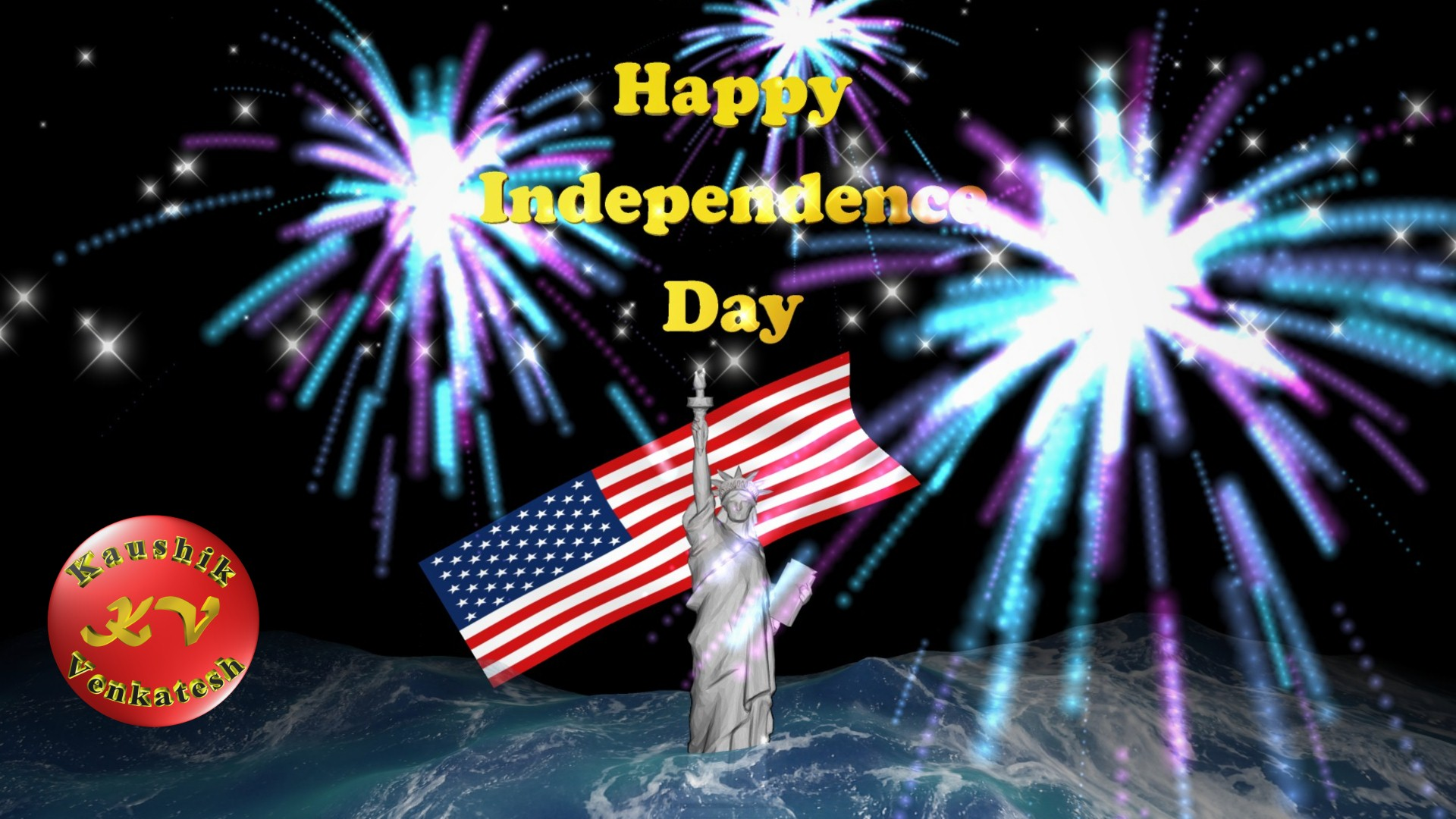 Greetings Image of Happy 4th of July