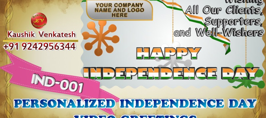 Product Image of Independence Day Wishes Video in Company Name & Logo