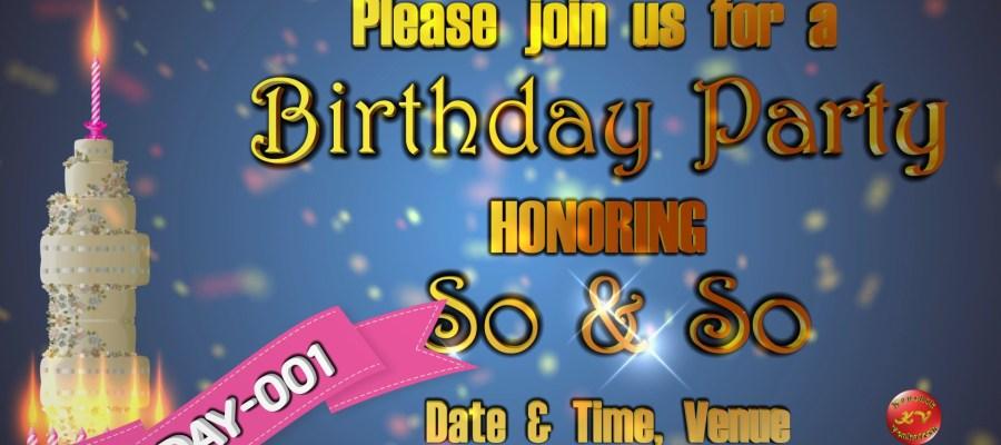 Product Image of Digital Happy Birthday Invitation Video