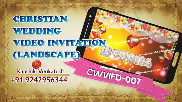 Product Image of Christian Wedding Invitation Video (Landscape) in Full HD