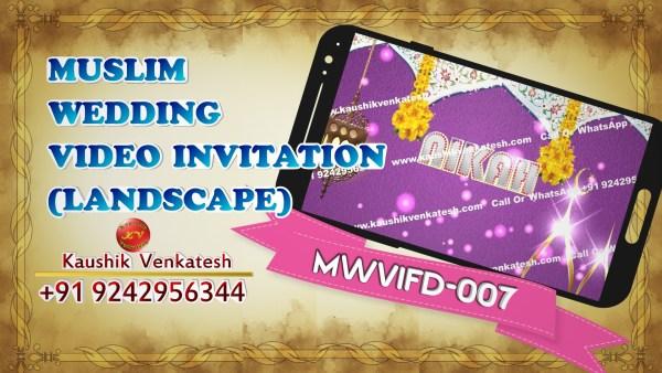 Product Image of Digital Islamic Digital Nikah Invitation Video in Full HD