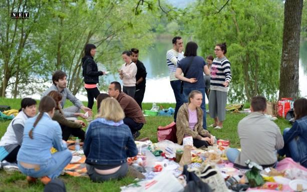 Русские иммигранты шашлык в Турине
