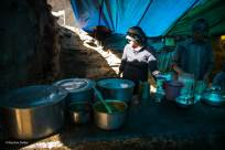 Hampta Pass Trek- Dhaba Woman cooking