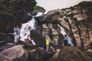 Hampta Pass Trek- waterfall in Cheeka