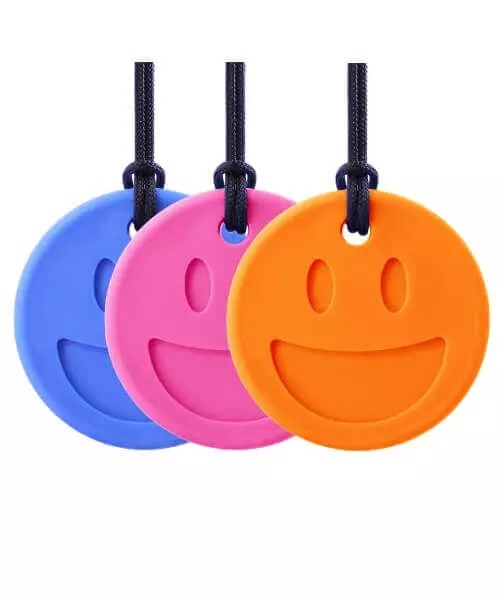 arks therapeutic bijtketting smiley face